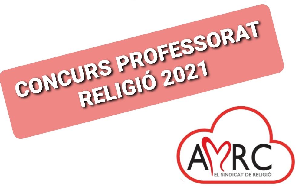 Concurs professorat religió 2021